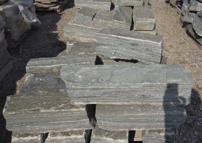 Steel Blue Guillotined Wall Stone