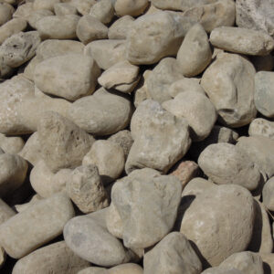 3 to 6 Inch Limestone River Rock