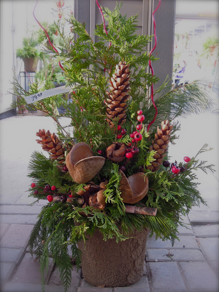 Past Events Christmas Urn With Pine Cones