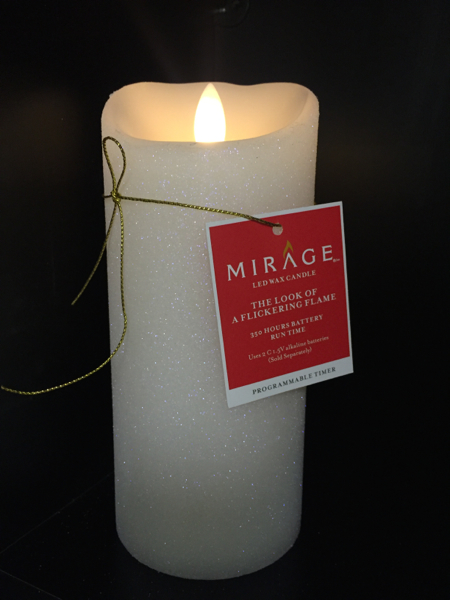 Mirage Glittery Candle