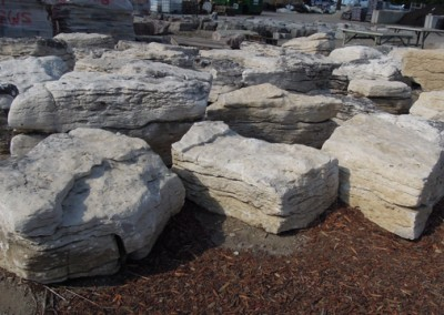 Manitoulin Stratified Stone Bone White